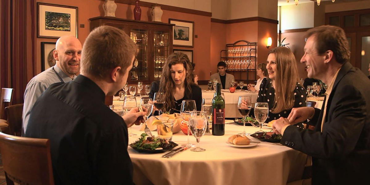 Guests dining in Preston's Restaurant