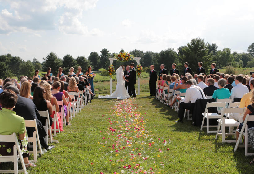 Wedding ceremony on The Inn's Great Lawn