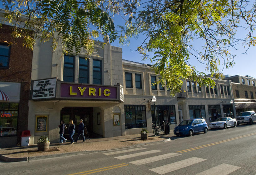 College Avenue and The Lyric Theatre in Downtown Blacksburg